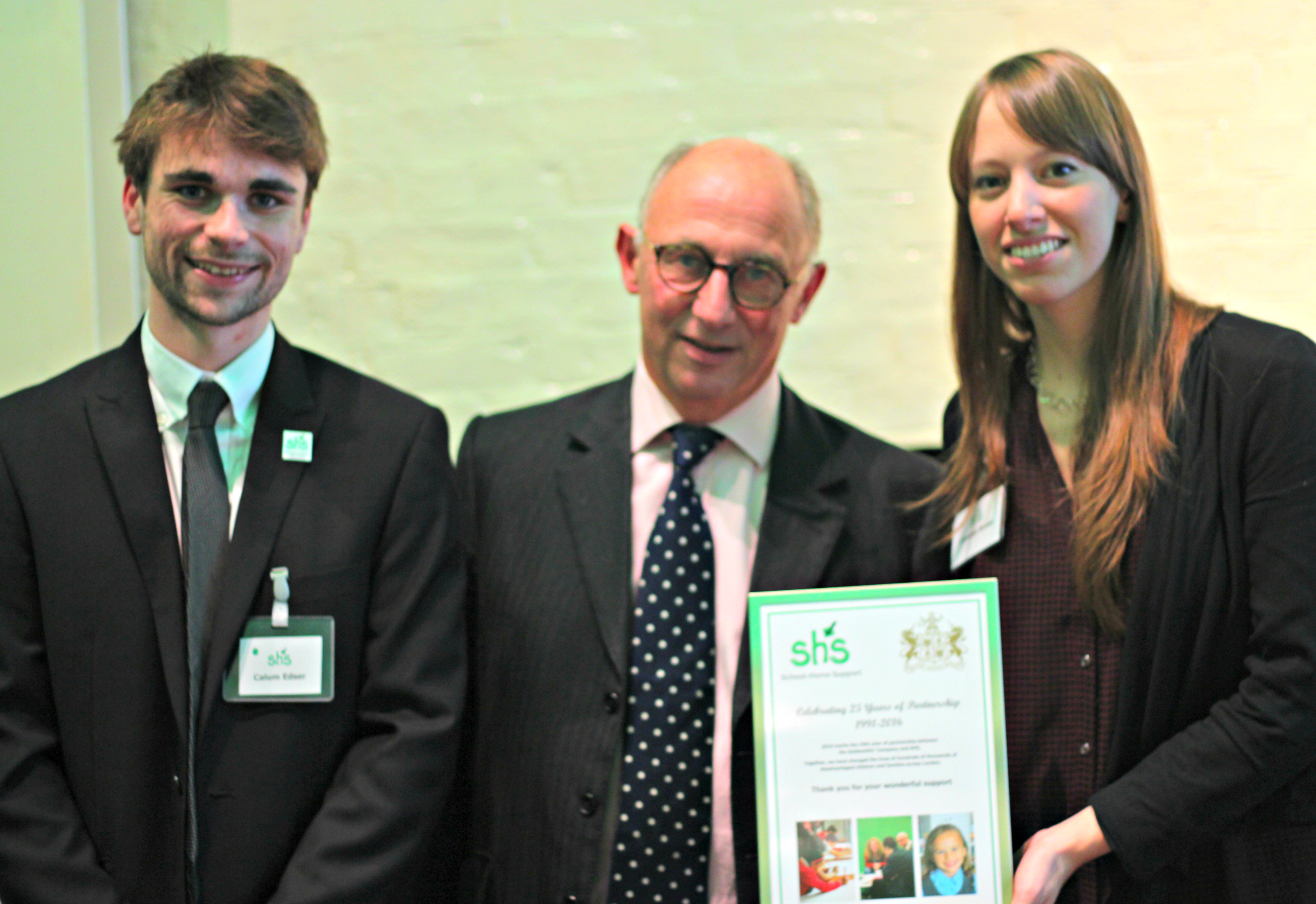 The Goldsmiths Company receive a certificate for supporting School-Home Support for 25 years